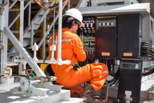 a man doing electrical maintenance